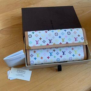 LV multicolor Porte Tresor wallet